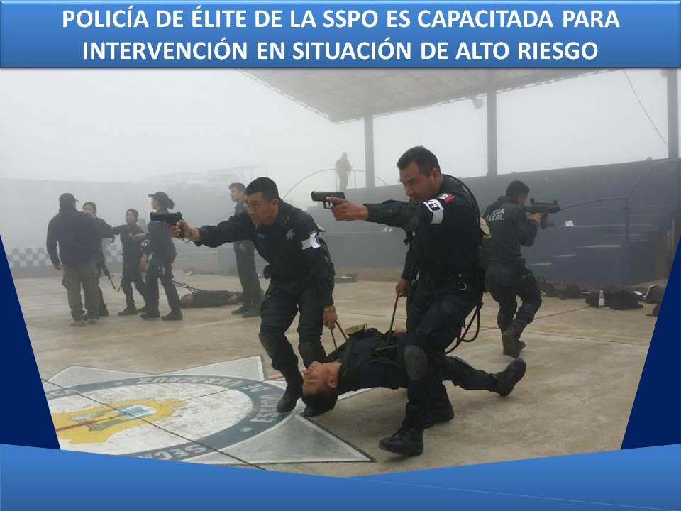 POLICÍA DE ÉLITE DE LA SSPO ES CAPACITADA PARA INTERVENCIÓN EN SITUACIÓN DE ALTO RIESGO