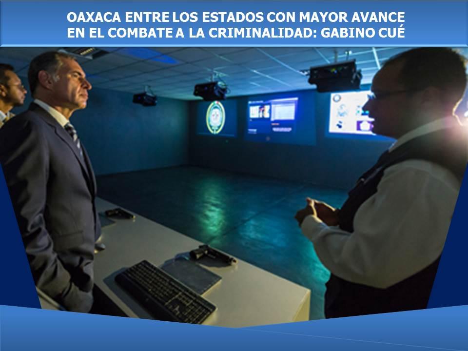 OAXACA ENTRE LOS ESTADOS CON MAYOR AVANCE EN EL COMBATE A LA CRIMINALIDAD: GABINO CUÉ