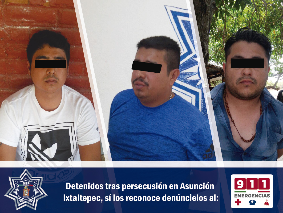 PELIGROSA BANDA DE PRESUNTOS ASALTANTES ES DETENIDA EN EL ISTMO DE TEHUANTEPEC